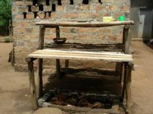 Wash stand at FLP model home, Lowero, Uganda